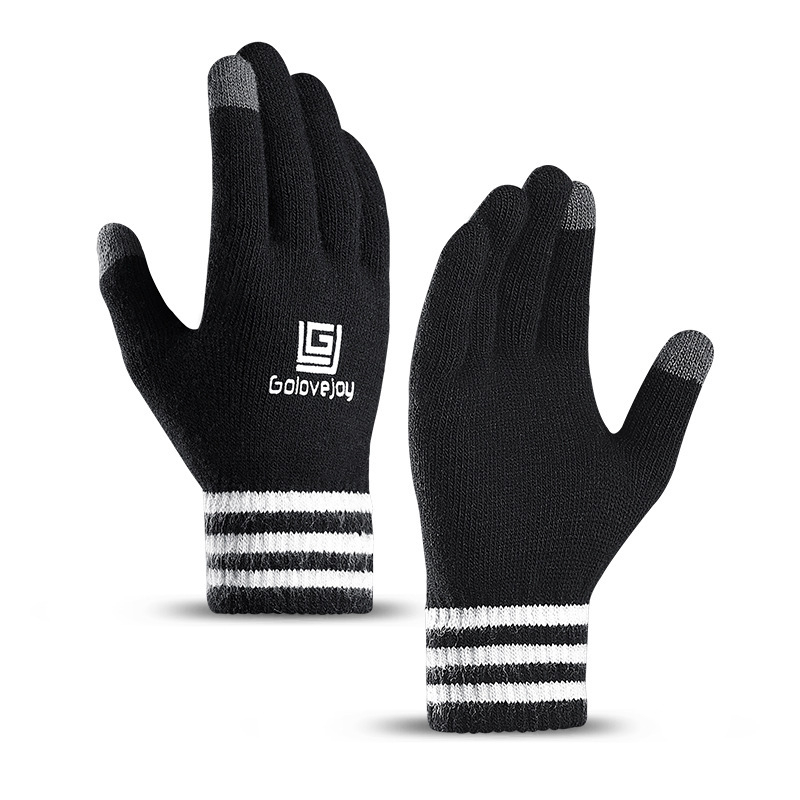 New Knit Touch Screen Gloves Men Women Autumn Winter Velvet Glove Thickening Wool Outdoor Riding Warm Couple Mittens Gloves