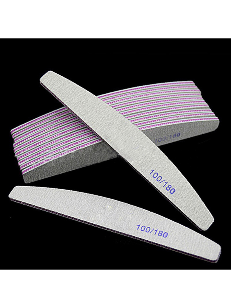 Sandpaper Nail-File Manicure-Care-Tools Grinding-Polishing Professional Half-Moon 100/180