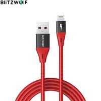 BlitzWolf-Cable Lightning a USB para cargador de iPhone, Cable de transferencia de datos de nailon, certificado MFi, BW-MF9 Pro, 0,9 m/3 pies, 2.4A