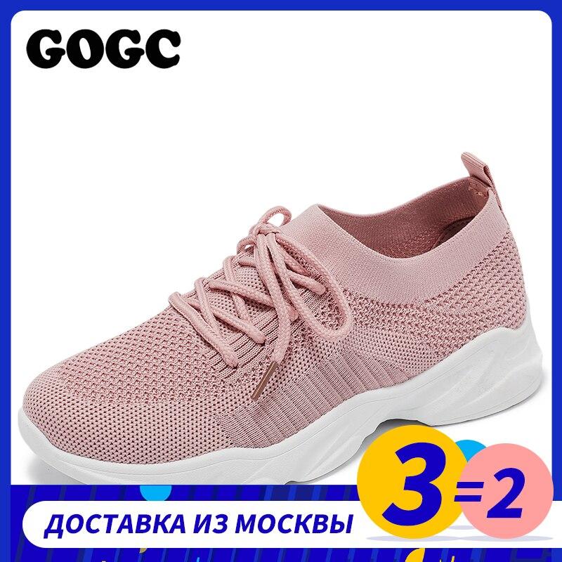 GOGC, zapatilla de deporte de malla transpirable para mujer, zapatillas deportivas informales, zapatos de mujer con cordones para primavera y verano 2020, chaussures femme G692