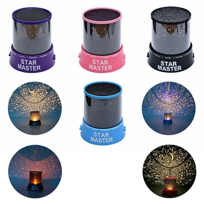 LED Night Light Projection Starry Sky Romantic Colorful LED Projection Lamp Children's Room Night Light Bedroom Decoration Gift