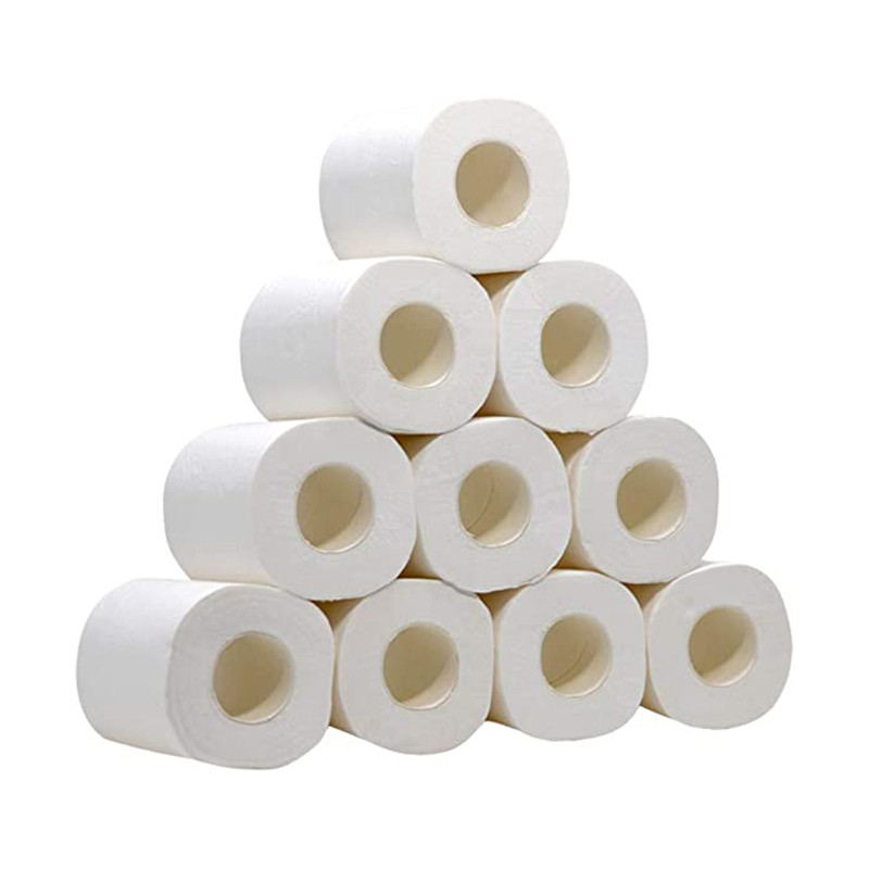 10 Pack White Toilet Paper Toilet Roll Tissue Roll 4 Ply Paper Towels Tissue Soft Toilet Paper For Home Kitchen Accessories