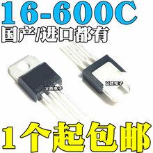 6 pces BTA16-600C BTA16-600 bta16 triacs 16 amp 600 volts para-220 original novo