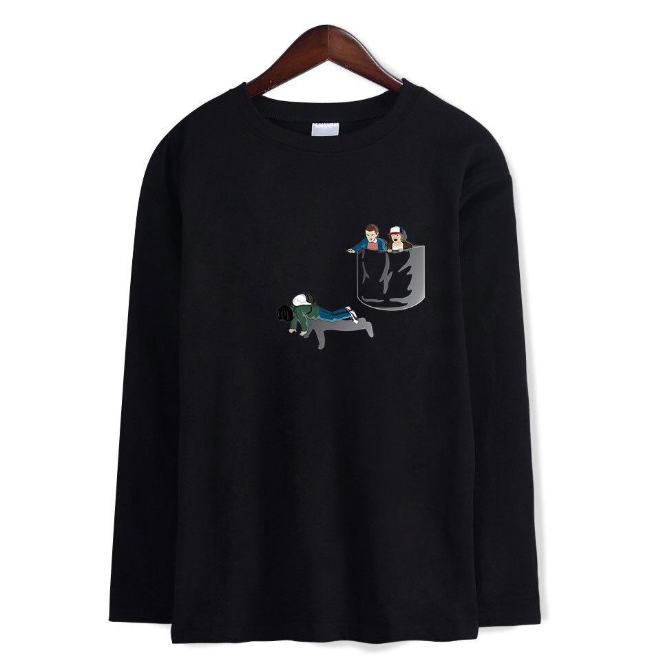 Мужская футболка с длинными рукавами на весну и осень 2019, футболка для подростков, футболка с принтом, модная мужская одежда