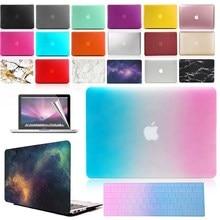 KK&LL Matte Hard Shell Laptop Protector case + Keyboard Cover + Screen For Apple MacBook Air Pro Retina 11 12 13 15