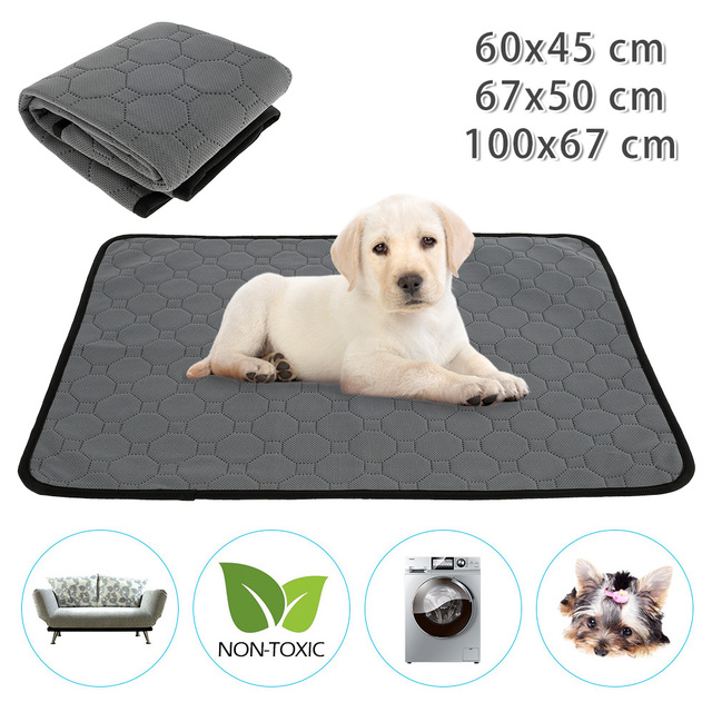 Reusable Tineer Washable Puppy Training Pad Pet Bed Mat Anti-slip Dog Pee Pad Blanket for Dog/Cat/Rabbit 1