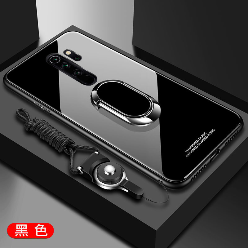Hfb551a6433f34d88a7f295a280a93e2bw for Xiaomi Redmi Note 8 Pro Case Tempered Glass Ring Magnet Holder Case for Redmi Note 8 8A 7 9 Pro Soft Frame Stand Back Cover
