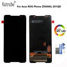 """2019 חדש הטוב ביותר 6.0 """"AMOLED מסך עבור ASUS ROG טלפון ZS600KL LCD תצוגת מסך + מגע Digitizer לוח עבור ZS600KL LCD עצרת"""