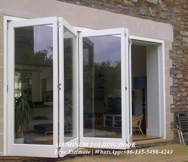Soundproof Double Aluminium Folding Home Bi-fold Door,Australia Certified Thermal Rating And Acoustic Aluminium Sliding Door