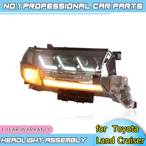 Image 2 - Car accessories LED headlights for Toyota Land Cruiser 17 19 for head lamp LED DRL Lens Double Beam H7 HID Xenon bi xenon lens
