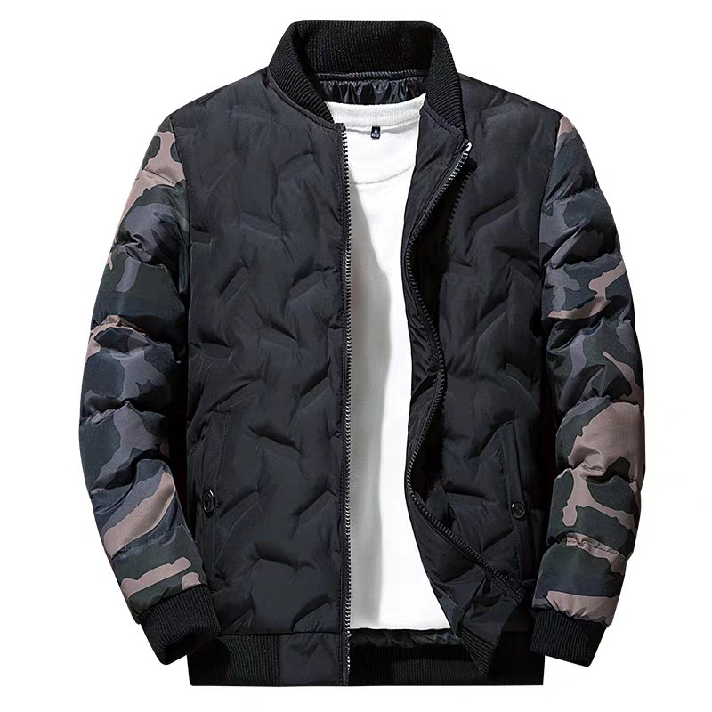 NaranjaSabor Winter Mens Bomber Jacket Warm Windproof Overcoats Male Camouflage Patchwork Fashion Parkas Brand Clothing N633 3