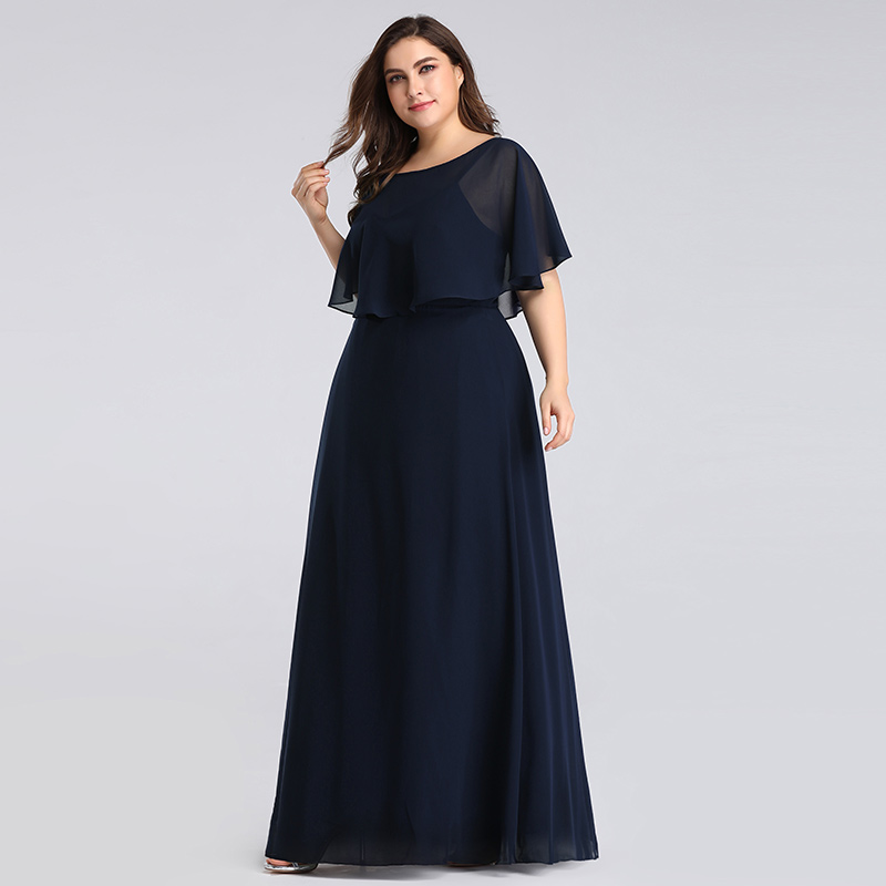 Elegant Brdesmaid Dress Floor-length Long Bridesmaid Gown With Cape Off The Shoulder Dress For Wedding Party Plus Size