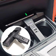 For BMW 1 2 Series F20 F21 F22 F23 M2 F87 2016 2020 10W qi wireless charger charging plate wireless phone charger phone holder