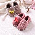 2019 осенне-зимние кроссовки для малышей  теплая обувь в форме клубники и фруктов  плюшевые мягкие тапочки на подошве для мальчиков и девочек