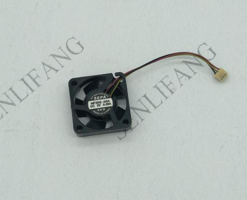 Free Shipping For SEPA MF20G-05A Server Square Fan DC 5V 0.06A 20x20x6mm 3-wire