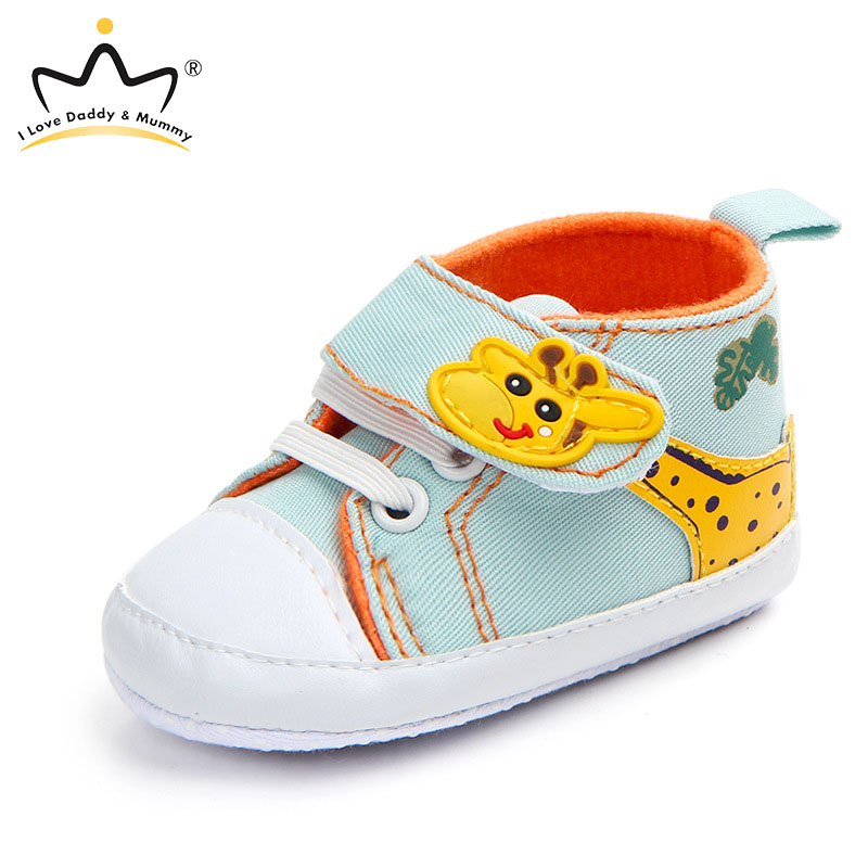New Cute Giraffe Print Baby Shoes Toddler Baby Boy Girl Shoes Soft Cotton Sneakers First Walkers Anti-slip Sole Baby Girl Shoes