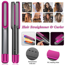 Hair-Straightener Curler Flat-Iron Professional 2-In-1 And with 5-Temp-Levels for Plug-In