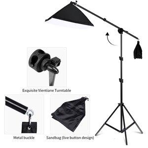 Image 2 - 20 Вт светодиодный комплект непрерывного освещения для студии Boom Arm 50x70 см софтбокс для фотосъемки освещение и фото оборудование для видеосъемки