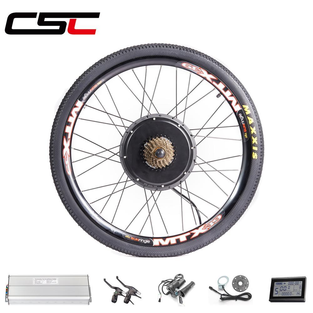 EBIKE 20-29 Inch 700C Electric Bicycle Conversion Kit 48V 1500W Brake Regeneration Function Rear Hub Motor Wheel