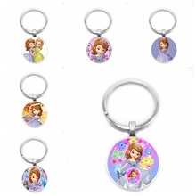 2019 New Hot First Necklace Cute Princess Pattern Keychain Classic Fashion Style, Little Girl Must-have