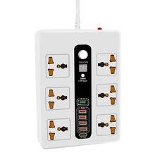 Minuterie intelligente de 24 heures marche/arrêt, prise de courant universelle 6AC, 5 Ports usb, rallonge, cordon d'alimentation de 2M
