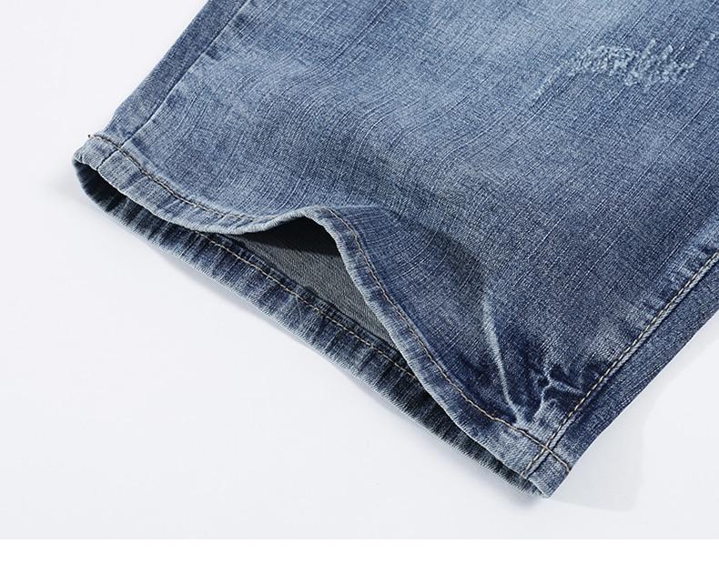 KSTUN Mens Light Blue Jeans Shorts Slim Fit Jeans Men Stretch Summer Denim Short Pants Fashion Leisure Male Jeans Quality Brand 18