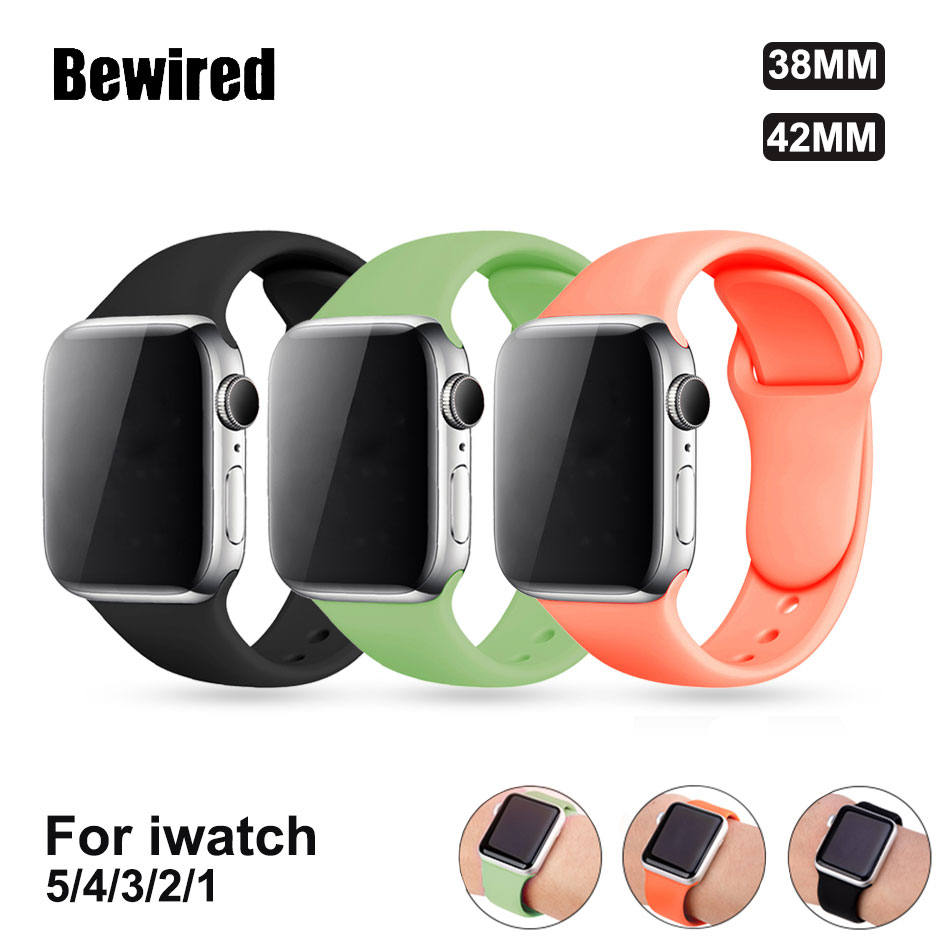 Strap For Apple Watch Band Belt 42mm 44mm 38 Mm 40mm Loop Band Iwatch Series 5 4 3 2 1 Silicone Bracelet Watchband