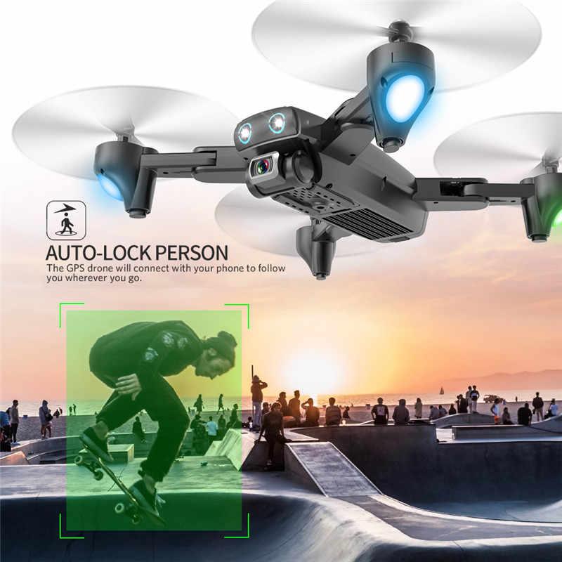 RC Helikopter Lipat Quadcopter 4 K HD Kamera GPS 5G Wifi FPV 1080P Tidak Ada Sinyal Kembali Penerbangan 20 menit Drone dengan Kamera Mainan