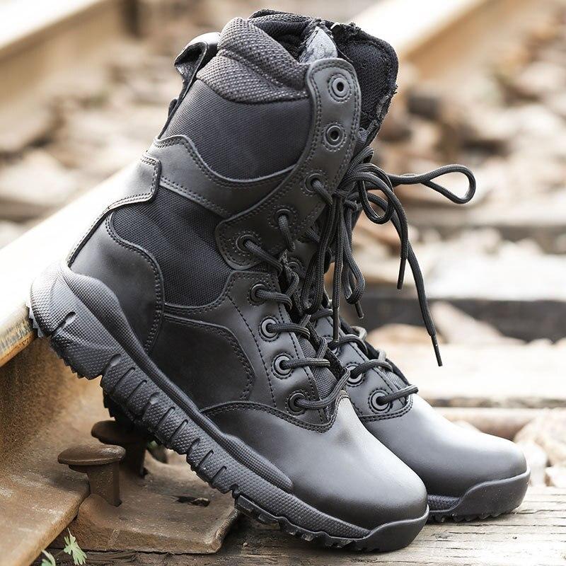 Ultra-Light Combat Boots CQB. Swat Xiaolong Lightweight Combat Boots Shock Absorption Hight-top Outdoor Tactical Boots Combat Bo