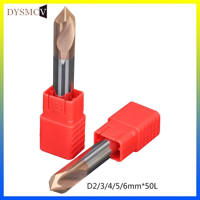 1pcs Tungsten Steel Spotting Drill Bit 2mm 3mm 4mm 5mm 6mm Diameter Weld Cutter Carbide Twist Drill Bit For Chamfering Tool
