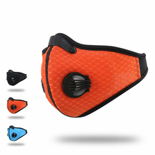 Anti Pollution Ciclismo Cycling Masks Half Face mask Bike Bicycle With Filter Neoprene Activated Carbon Mesh Cloth training mask