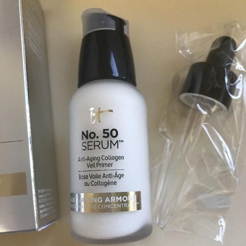 Makeup Primer Anti-aging Collagen Veil Cream Moisturizing Hydration Oil-Control Eyes Skin Care Make Up Base It Cosmetics