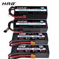 HRB-batería Lipo para coche de control remoto, 3S, 11,1 V, 6000mah, 7000mah, 5500mah, 4200mah, con carcasa dura, enchufe de XT60-T decanos, 1/10, 1/12