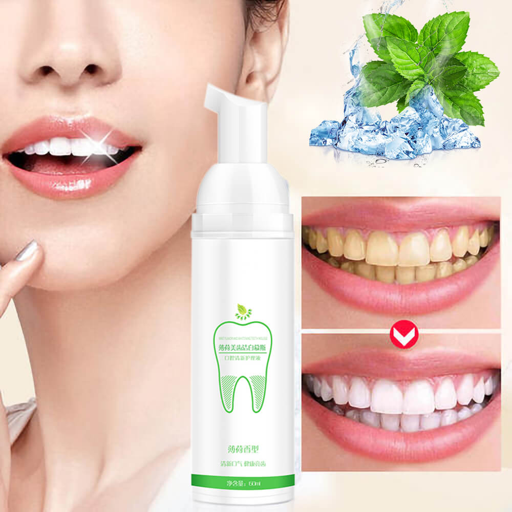AZDENT Mousse Toothpaste Teeth Whitening Fresh Shining Tooth-Cleaning Oral Hygiene Removes Plaque Stains Bad Breath Dental Tool