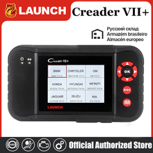 Авто читальный инструмент кодов Launch X431 Creader VII+ Creader VII Плюс обновление через официальный сайт OBDII сканер же как CRP123