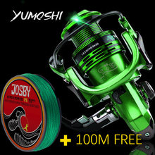 New Fishing Coils 13 + 1BB 5.5: 1 Full Metal Fish Feeder Mlinete Spinning Reels Baitcasting Reel Sea Rock Bait Fishing Hot Wheel