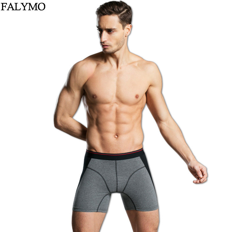 Male Underwear <font><b>Boxer</b></font> <font><b>Shorts</b></font> <font><b>Cotton</b></font> Mens Panties <font><b>Sexy</b></font> Long Underpants Man Trunk <font><b>Short</b></font> Lengthened Man Panty Cueca <font><b>Boxers</b></font> <font><b>Homme</b></font> image