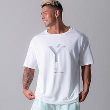 Новая повседневная мужская футболка свободная летняя модные