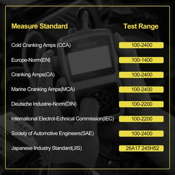 AUTOOL BT360 12V Car Battery Tester 5