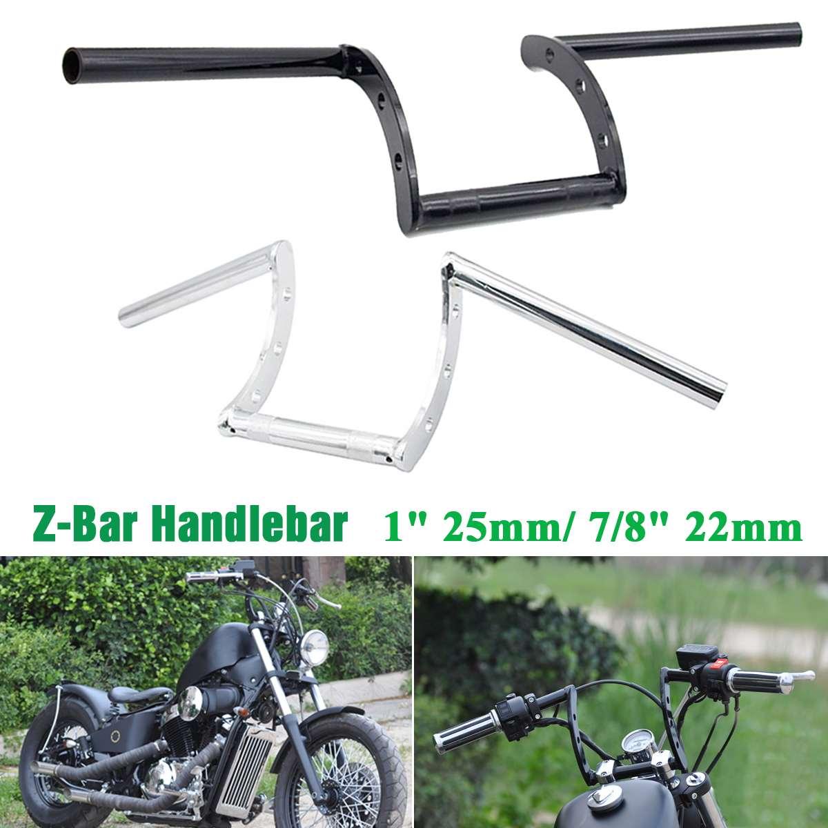 Universal 22/25mm Motorcycle Balance Handlebar Z Drag Handle Bar For Honda For Suzuki Black/Silver