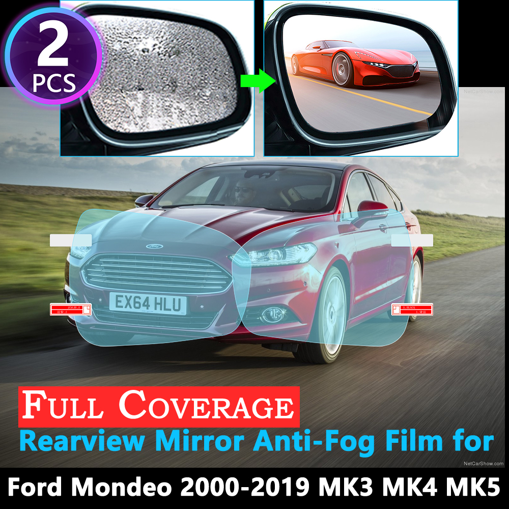 Full Cover Protective Anti-Fog Film For Ford Mondeo Mk3 Mk4 Mk5 Fusion 2000~2019 Car Rearview Mirror Rainproof Accessories 2018