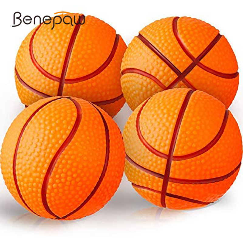 Benepaw Safe EVA Dog Ball Durable Bouncy Fetch Basketball Chew Pet Toys For Small Medium Dogs Traning Puppy Game Interactive