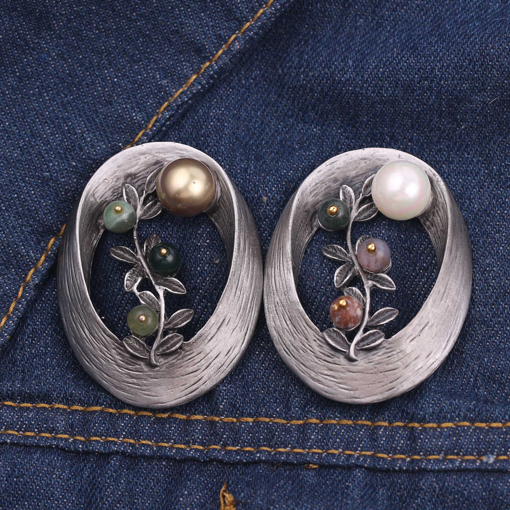 Flor de folha elegante broches feminino forma oval imitação pérola broche festa de casamento jóias acessórios clipes corsage colar pino