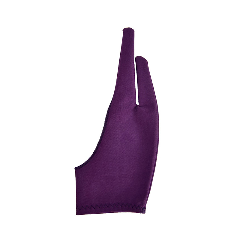2 Finger Anti-fouling Glove,both For Right And Left Hand Artist Drawing For Any Graphics Drawing Tablet