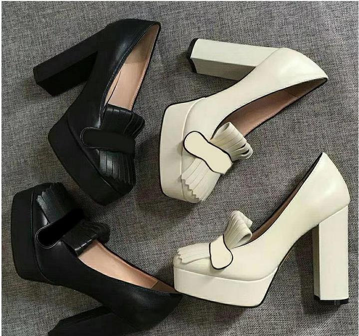Zapatos de tacón estilo mocasín de cuero 2020 con tacón grueso para mujer, zapatos elegantes para mujer, zapatos de tacón poco profundos con hebilla metálica Pegatina de suela de zapato para mujer, para bota de tacón alto tipo sandalia, almohadilla autoadhesiva antideslizante, almohadilla para puntera frontal, almohadillas de zapato Protector