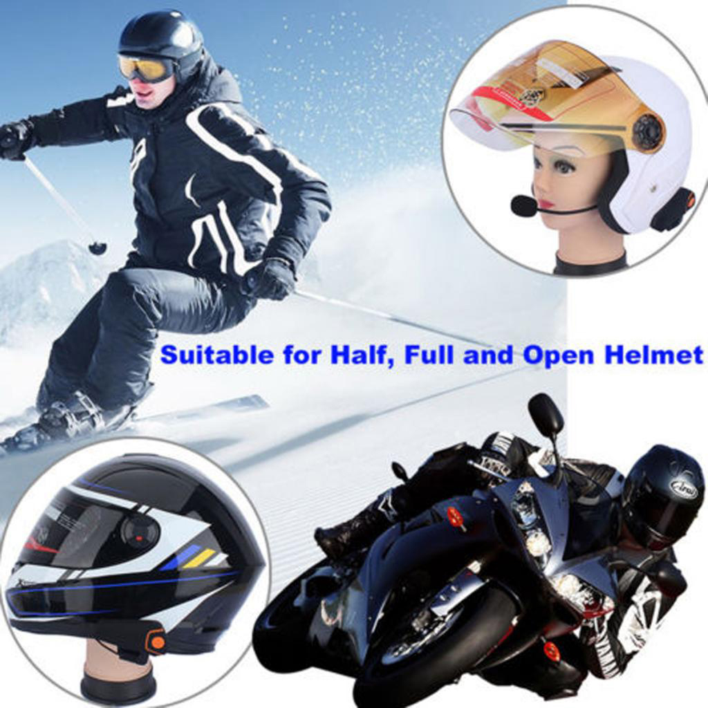 1 Set Wireless Motorcycle Helmet Speaker Intercom Communication Systems Bluetooth Headset Earphone Hands Free Talking