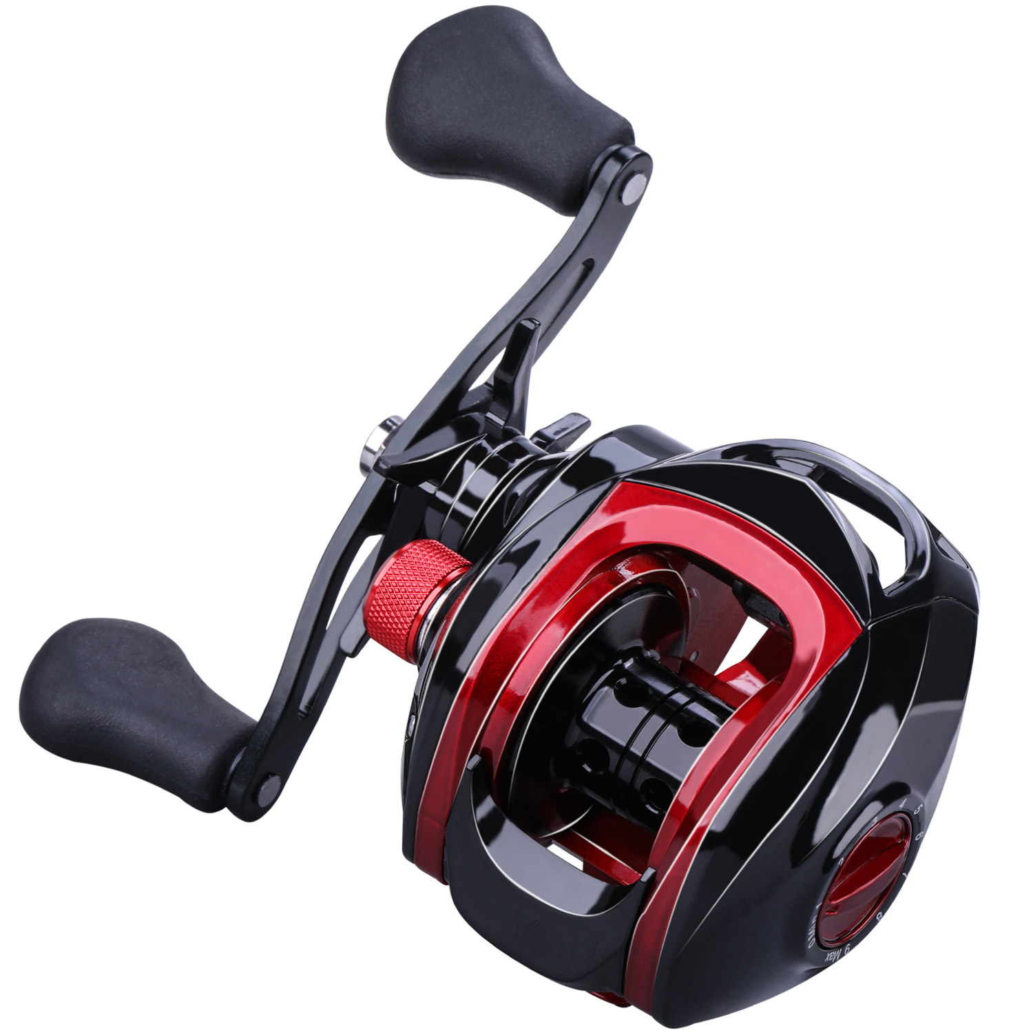 Sougayilang 17+1BB Baitcasting Reel 7.1:1 17+1BB Carp Fishing Reel with Magnetic Brake 8KG Max Drag Left Right Hand Casting Reel