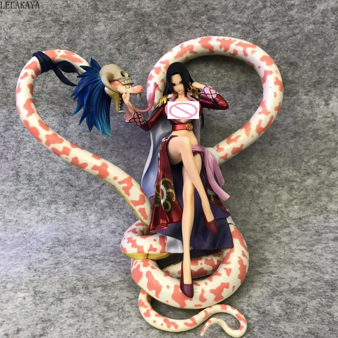 One Piece Portrait Of Pirates Neo Maximum Boa Hancock With Snake 15th Anniversary Sexy PVC Anime Action Figure Model Toys 21CM
