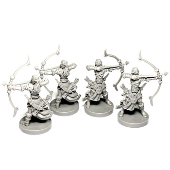BIXE 4PCS  Wars Board Game Role Playing  Miniatures Resin Figures Hobby Collection 4pcs board game knight miniatures role playing figures resin model boy toys collection