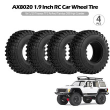 Voor 1/10 Traxxas TF2 Redcat Rc4wd Tamiya scx10 D90 Hpi Crawler 4PCS AX8020 1.9 Inch RC Auto Wiel Band(China)